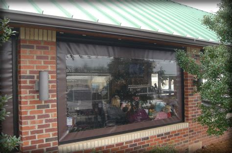 restaurant seasonal vinyl patio enclosure panels