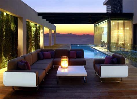 modern garden furniture for contemporary patio interior