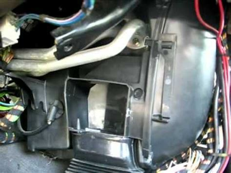 bmw heater core removal part mp youtube