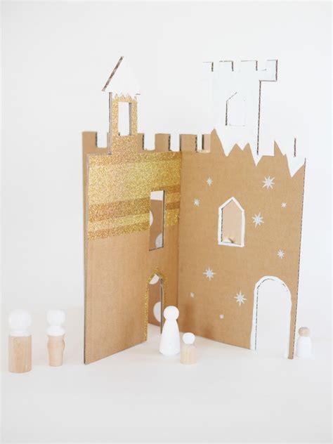 diy   printable winter cardboard castle