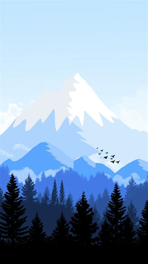 alps mountain animated forest iphone wallpaper iphone