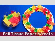 Fall Tissue Paper Wreath Preschool and Kindergarten Art