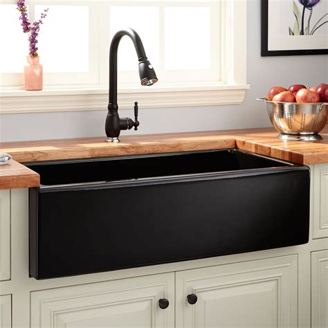 signature hardware kitchen sinks 36 quot dorhester fireclay reversible farmhouse sink smooth
