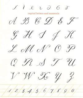 beautiful  printable uppercase calligraphy alphabet
