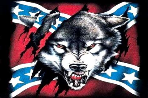 wolf  rebel flag sticker custom wall graphics