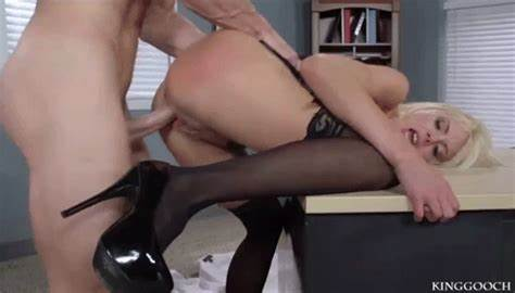 Ginger In Fuzzy Heels Fucked A Slim