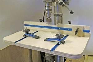 DIY Drill Press Table Plans