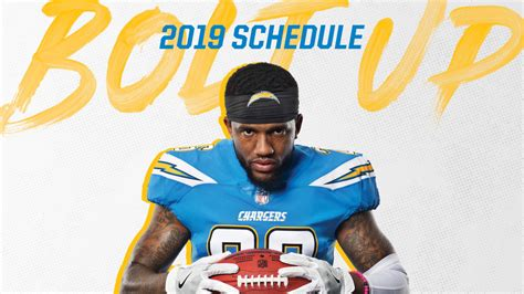 chargers  schedule announced