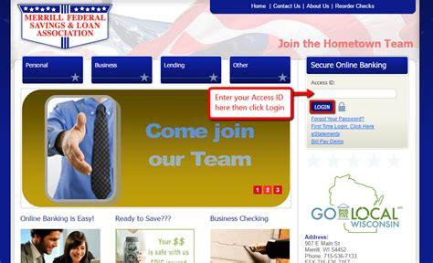 Merrill Federal Savings & Loan Association Online Banking