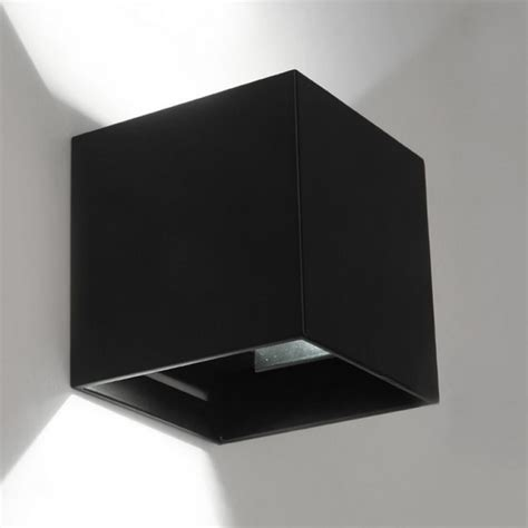 7w ip65 black surface mounted led wall lights outdoor cube