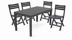 Salon De Jardin Pliant : table jardin plastique et chaises pliantes ~ Dailycaller-alerts.com Idées de Décoration