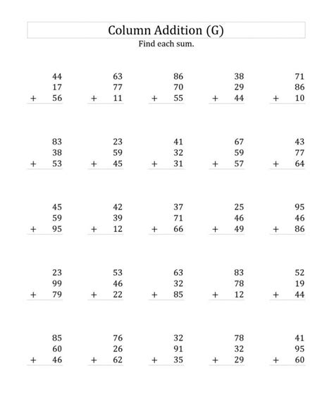digit addition math worksheet free math worksheets for grade word problems templates and