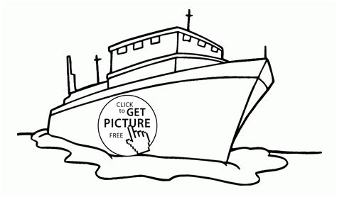 Big Boat Coloring Pages big ship coloring page for transportation coloring