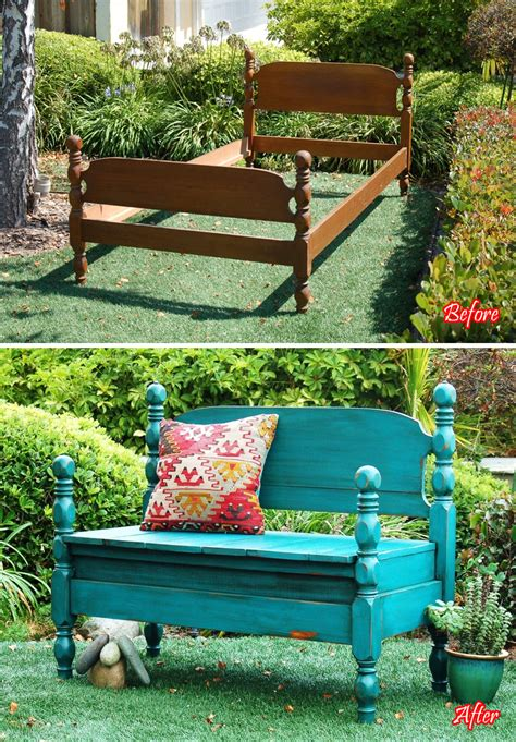 Bed Into Bench by 20 Creative Diy Furniture Hacks That Will Make You Think