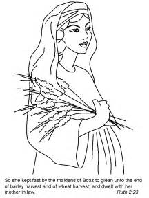Ruth Bible Story Coloring Page