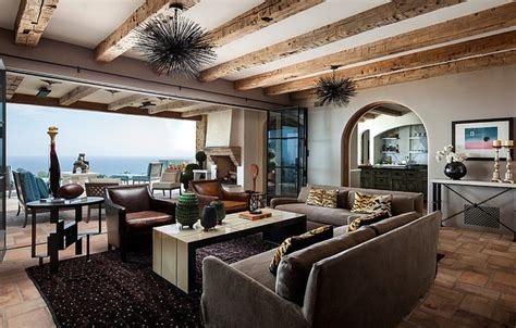 petit ilot central cuisine villa de luxe de style méditerranéen à malibu vivons maison