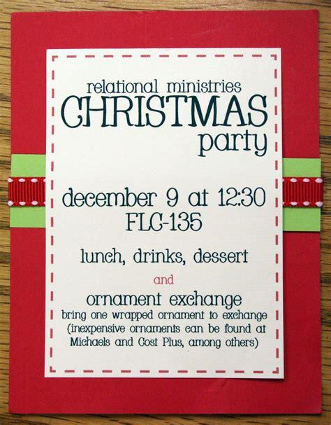 Work Christmas Party Invitations Cimvitation
