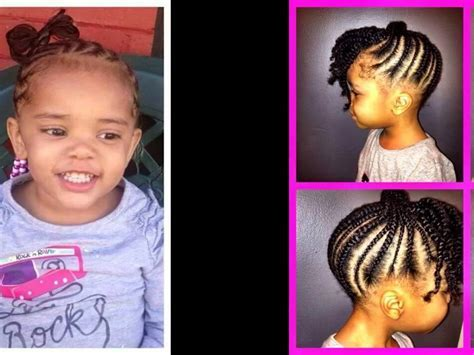Simple hairstyle for African American Toddler Girl