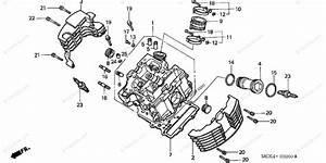 Honda Motorcycle 2007 Oem Parts Diagram For Cylinder Head  Fr