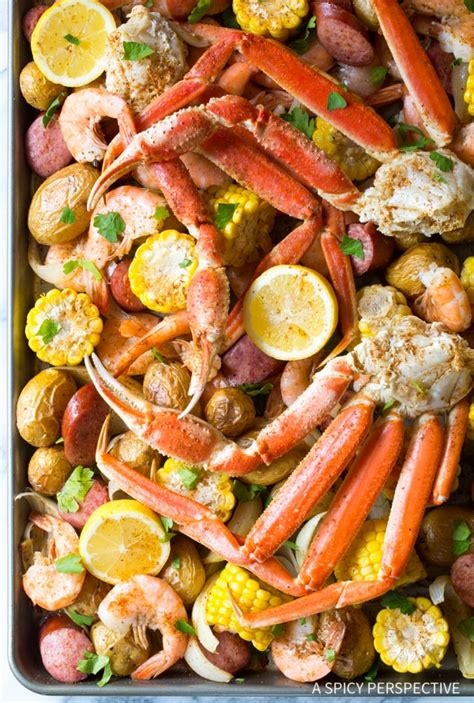boil country low pan sheet broil recipe recipes seafood shrimp food cook crab oven aspicyperspective bake easy spicy dishes fish