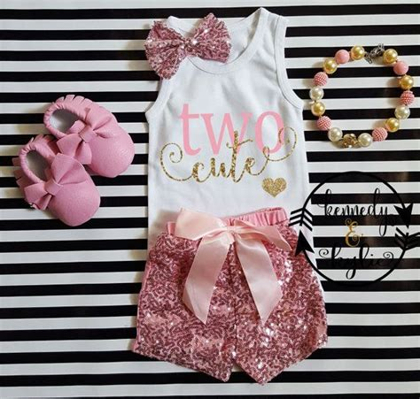 2nd Birthday Outfits Cute 3pc Second Pink and by kennedyandkylie | Mermaid Theme | Pinterest ...