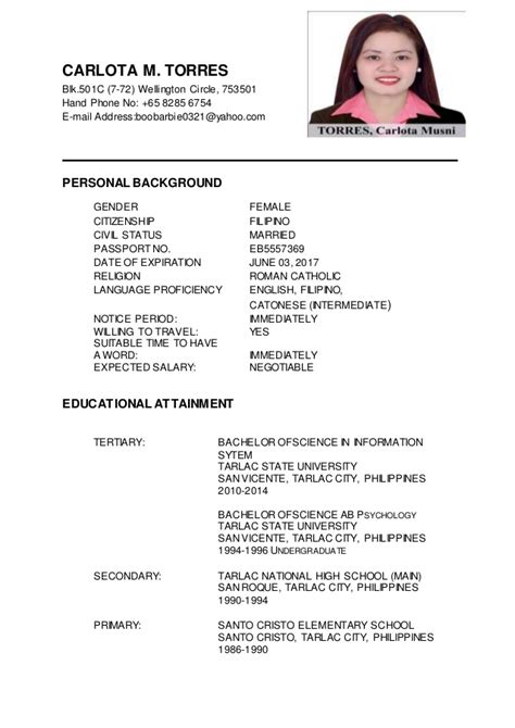 Update Resume by Carlota M Torres Updated Resume
