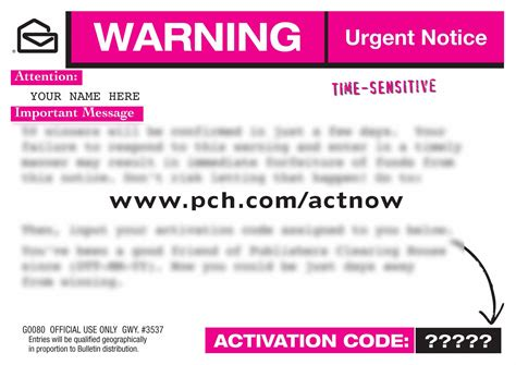 pch activate prize entry autos post pch act now activation code pc239 autos post