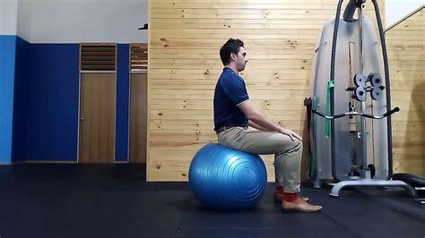 Exercise Ball Pelvic Tilts - YouTube