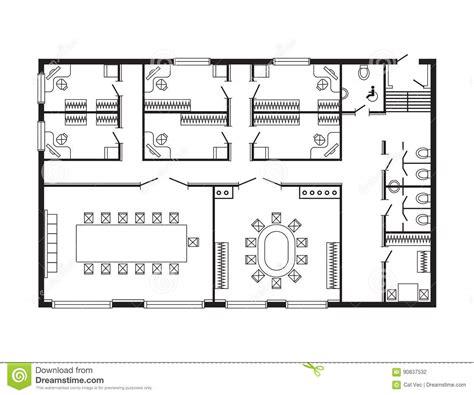 bureau plan thonon les meubles de plan architectural de bureau et le dessin d