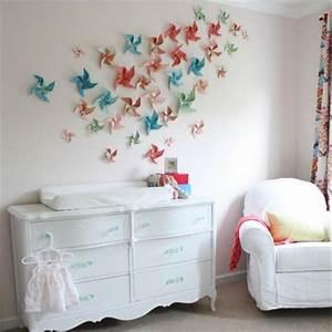 Bilder Für Schlafzimmer Wand : bunte papier blumen an der wand super dekorative idee selber machen zeit f r kunst 48 ~ Sanjose-hotels-ca.com Haus und Dekorationen