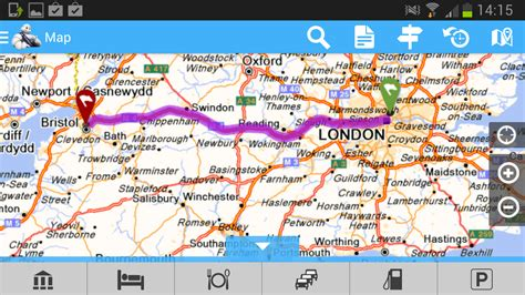 viamichelin route planner maps android apps on google play