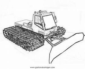 Pistenfahrzeug 1 Gratis Malvorlage In Baumaschinen