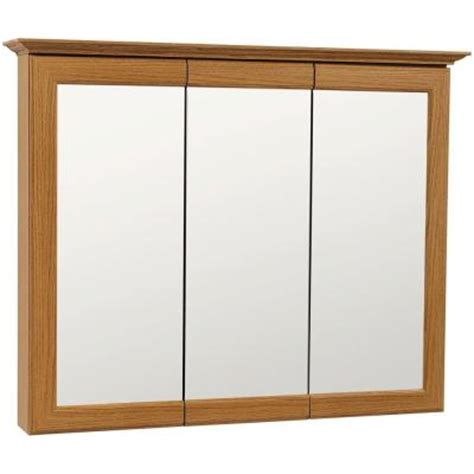 Glacier Bay Medicine Cabinet Mirror by Glacier Bay 37 In X 30 In Mirrored Surface Mount