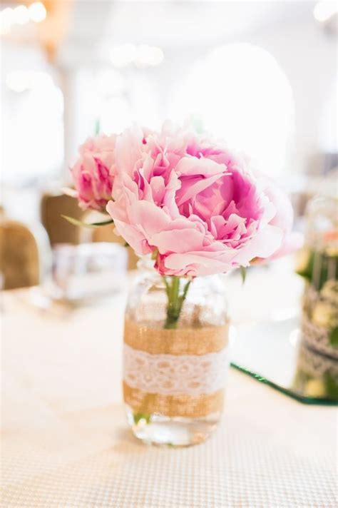 peony centerpieces   add  romantic touch