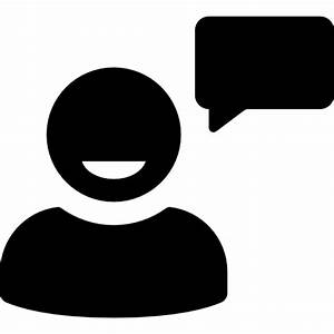 User talking with speech bubble Icons   Free Download