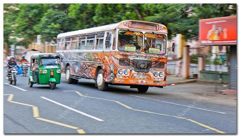 regular public bus sri lanka stock editorial photo  zxr