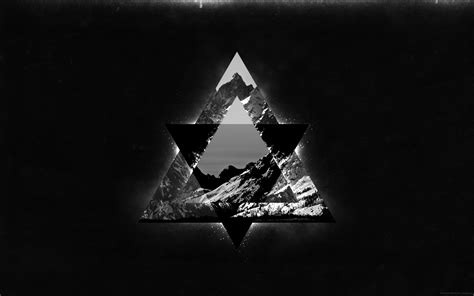 Abstract Black Triangle Wallpaper by Geometry Triangle Mountains Hd Wallpapers