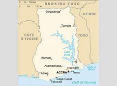 1Up Travel Ghana Maps & Cities Map & Cities of Ghana
