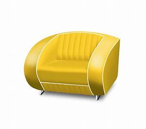 Bel Air Retro Furniture Single Seater Sofa Plain Back