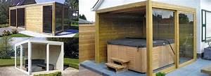 Jacuzzi En Bois : piscine bois carre 5 abri de spa jacuzzi en bois ~ Nature-et-papiers.com Idées de Décoration
