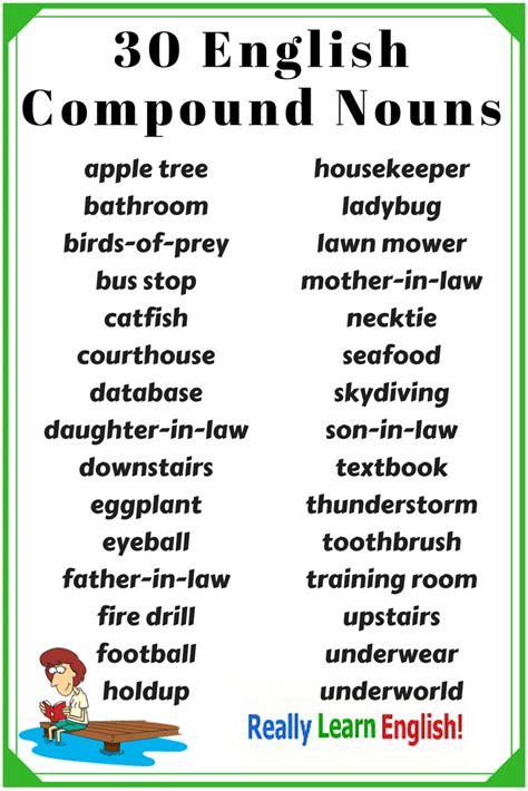 compound nouns  english