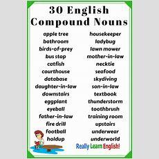 Compound Nouns In English