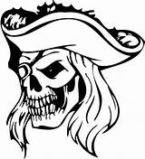 Pirate Coloring Skull Pages Face Printable Vinyl Decal Etsy sketch template