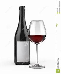 Glass And Bottle Of Red Wine Stock Photo - Image: 27280700