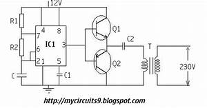 230v simple inverter circuit using 555 timer my circuits 9 With intro to circuit