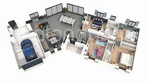 plan de maison 3d pictures to pin on pinterest pinsdaddy With plan maison avec appartement