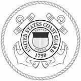 Guard Coast Coloring Printable Seal Logos Colorbook Bw sketch template