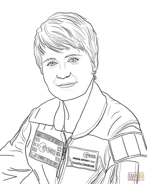 Dibujo de Astronauta Samantha Cristoforetti para colorear ...
