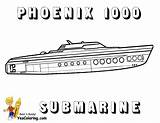 Submarine Coloring Pages Ship Luxury 1000 Phoenix Colouring Yescoloring Navy Force Boats sketch template