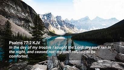 Psalms Kjv Desktop Sought Trouble Lord